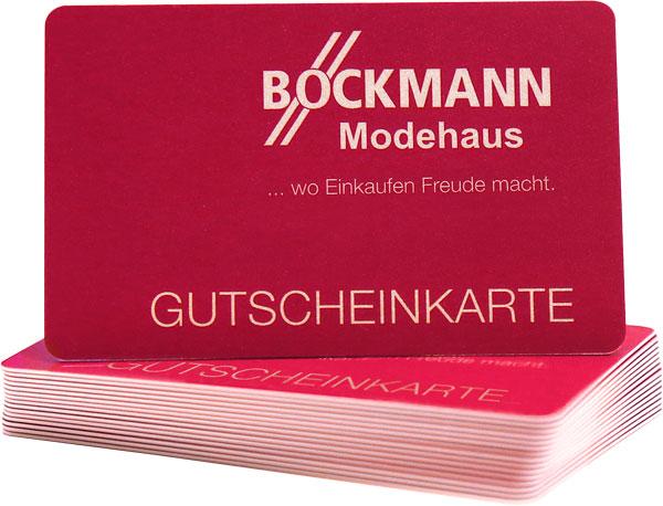 Gutscheinkarte.Modehaus Bockmann Geschenkgutschein